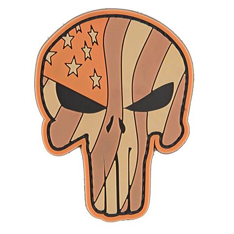 G-Force Punisher Waving Flag Tan Patch (PATCH099) / Morale Patch - Iceberg Army Navy