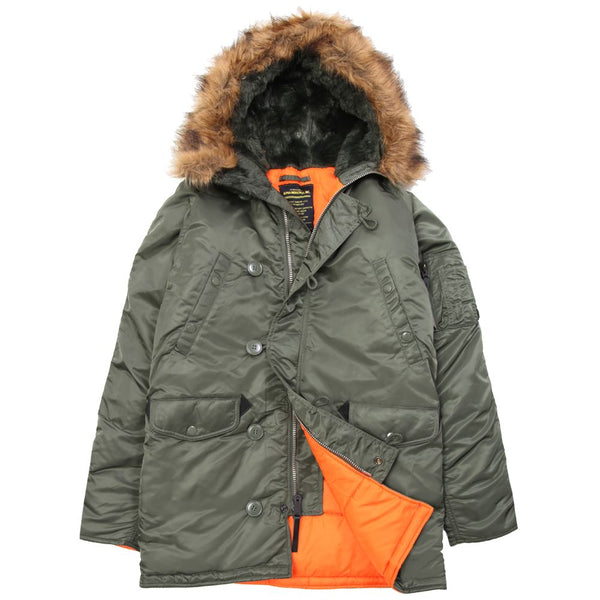 Alpha Industries Slim Fit N-3B Parka (N3B) / N-3B Parka Jackets - Iceberg Army Navy