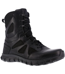 "Reebok Men's 8"" Waterproof Feather Tactical Boot with Side Zipper (RB8806)"