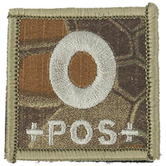 Blood Type O POS Patch (PATCH037A) / Morale Patch - Iceberg Army Navy