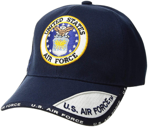 US Air Force Emblem Embroidered Ball Cap Navy (78-438) / Caps / Hats - Iceberg Army Navy