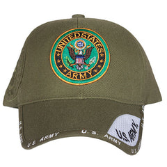 US Army Emblem Embroidered Ball Cap Olive Drab (78-433) / Caps / Hats - Iceberg Army Navy