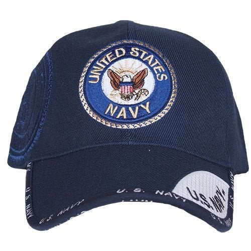 US Navy Emblem Embroidered Ball Cap Navy (78-437) / Caps / Hats - Iceberg Army Navy