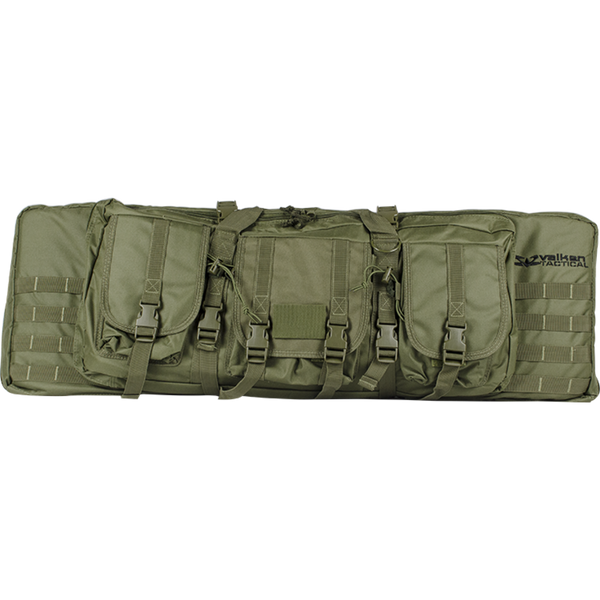 "Valken 36"" Double Airsoft Case Olive Drab (GB36DOV) / Airsoft Rifle Cases - Iceberg Army Navy"