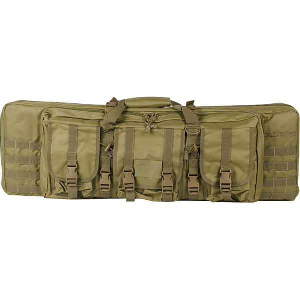 "Valken 42"" Double Airsoft Case Tan (GB42DTV) / Airsoft Rifle Cases - Iceberg Army Navy"