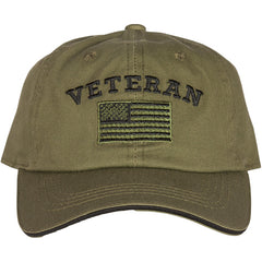 Veteran Embroidered Ball Cap (78-4026)