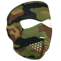 Neoprene Full Face - Woodland Camo Mask (WNFM118HV) / Mask - Iceberg Army Navy