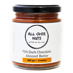 75% dark chocolate almond butter