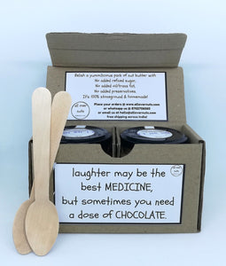 Dark Chocolate Peanut Butter Gift Box - Twin Jars