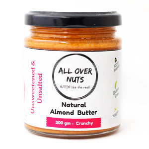 Natural Almond Butter - All Over Nuts - Crunchy