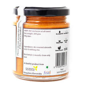 Natural Almond Butter - All Over Nuts Pricing