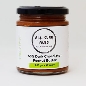 55% dark chocolate peanut butter crunchy