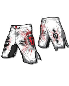 FTF Fight Shorts White - Fear The Fighter