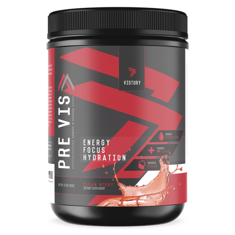 PREVIS - Supercharged Pre-Workout Powder vistory supplements main image clean berry
