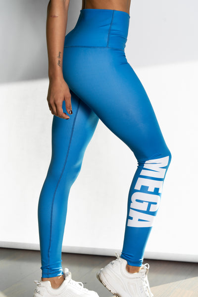 Shaded Aqua Blue High Waist Sculpt Leggings