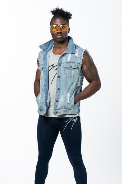 Mega Sleeveless Denim Jacket