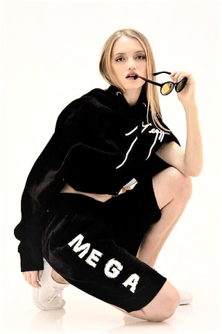 MEGA SIGNATURE FLEECE SHORT/HOODIE SET