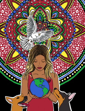 The World Is In Your Hands Colouring Page