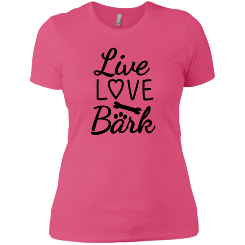 Ladies Live Love Bark T-Shirt