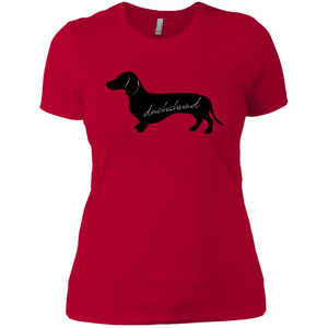 Ladies Dachshund Boyfriend T-Shirt