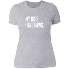 Ladies My Kid Has Paws T-Shirt