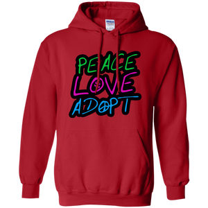 Peace Love Adopt Pullover Hoodie