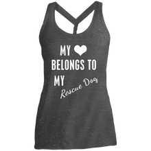 Ladies My Heart Belongs Twist Back Tank