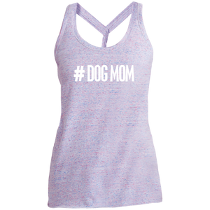 Ladies #DogMom Twist Back Tank