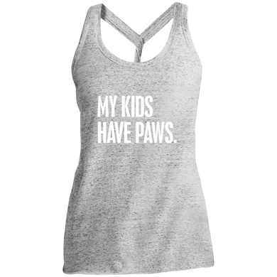 Ladies My Kids Have Paws Twist Back Tank