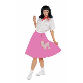 ADULT POODLE SKIRT-PINK