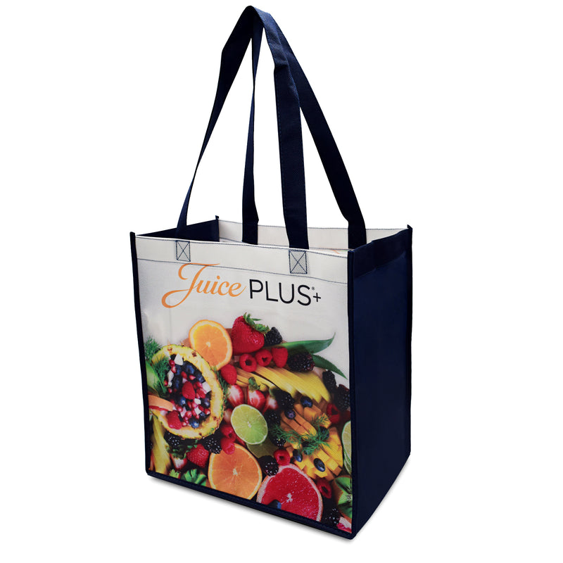 "Custom Printed Laminated PP Non-Woven Shopping Bag 12""W x 13""H x 8""G"