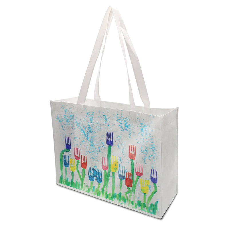 "Custom Printed Laminated PP Non-Woven Shopping Bag 16""W x 12""H x 6""G"