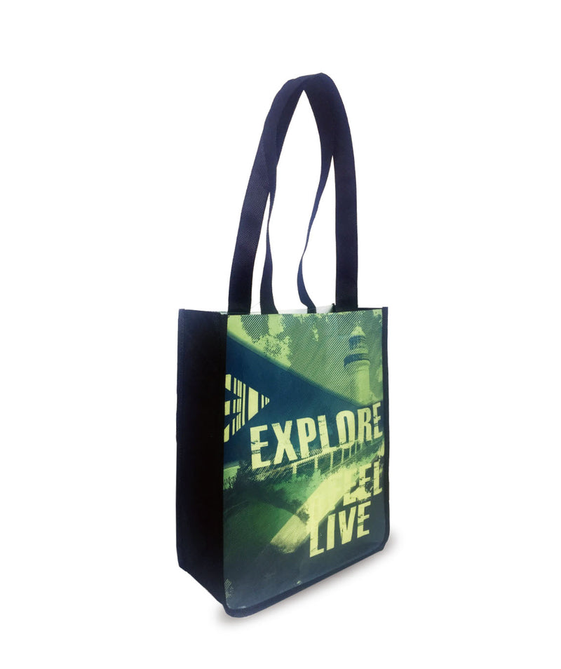 "Reusable Shopping Bags - Promotional Bags - 9.5"" X 10""H X 4.5""D"
