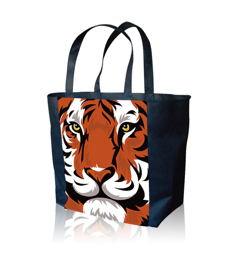 "Reusable Fabric Tote Bags Custom Printing - 17.5""W X 13""H X 5"" Bottom"