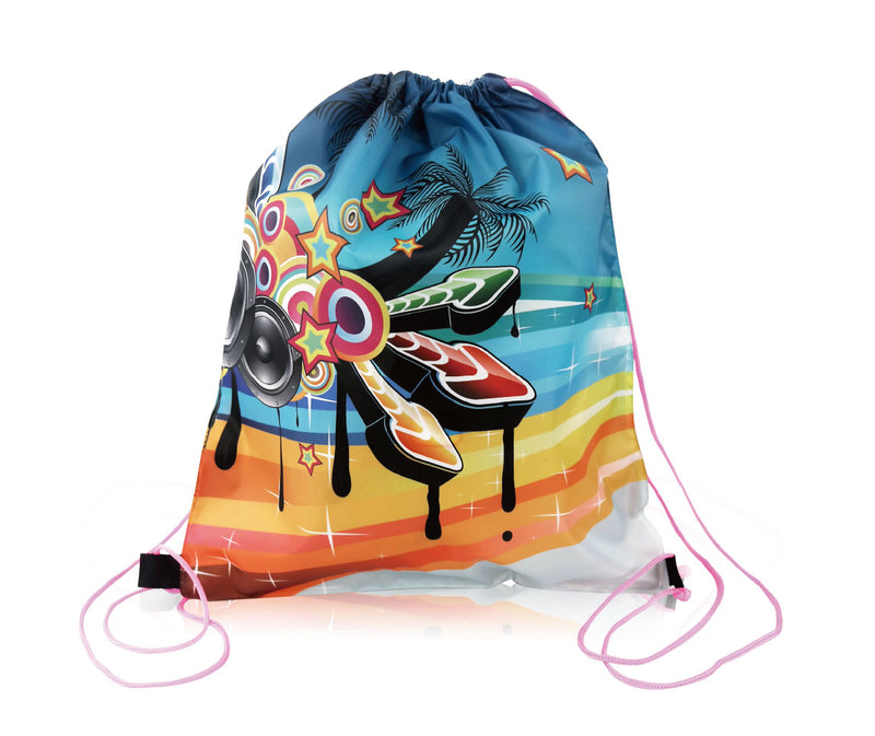 "Promotional Polyester Backpack Cinch Bag Custom Printed - 14""W X 17""H"
