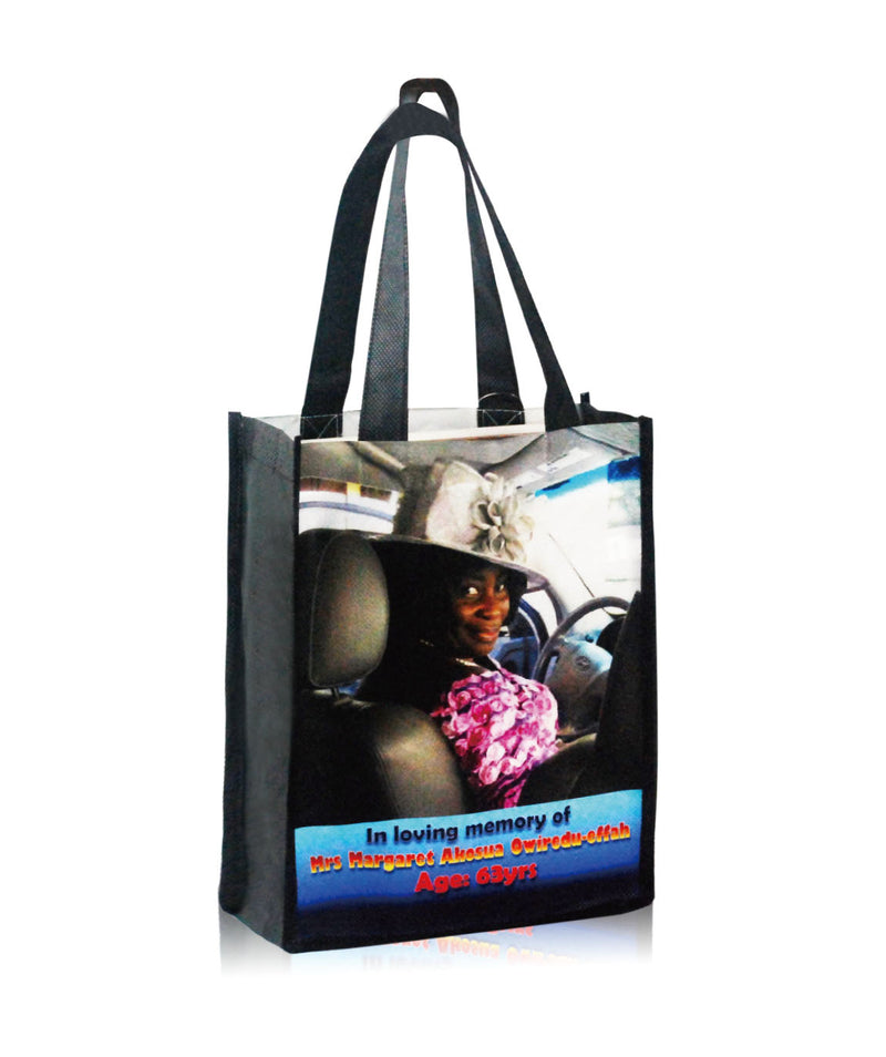 "Reusable Promotional Bag Custom Printing - 8""W X 10""H X 4""D"