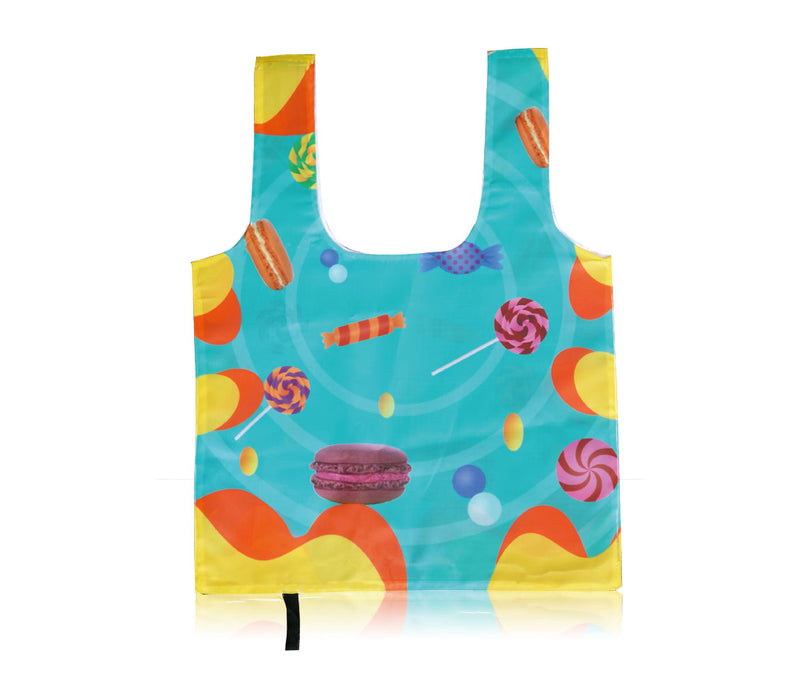 "Reusable Foldable Tote Bag Custom Printing - 14""W X 18.5""H"
