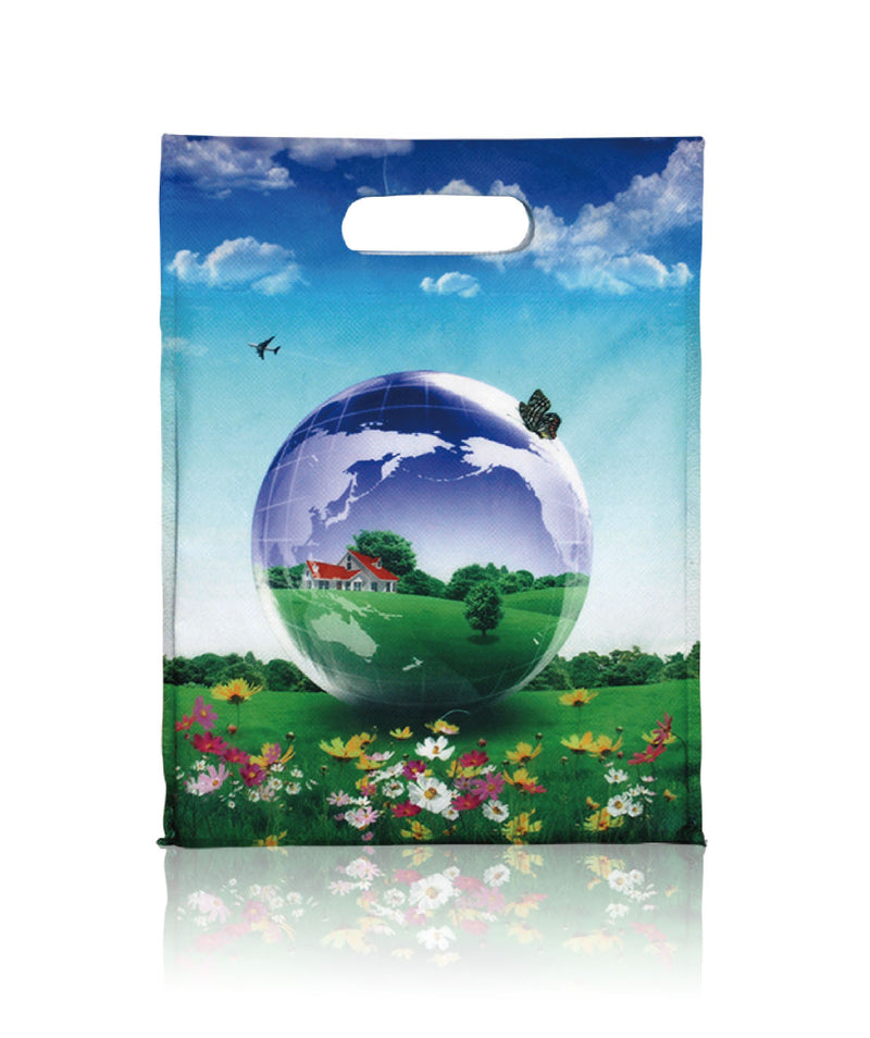 "Reusable Fabric Shopping Bags Sublimation Printing - 10.25""W X 13"""