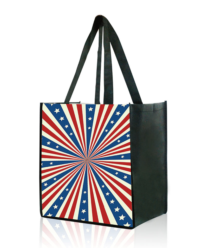 "Reusable Shopping Bags With Custom Printing - 13""W X 15""H X 10""D"
