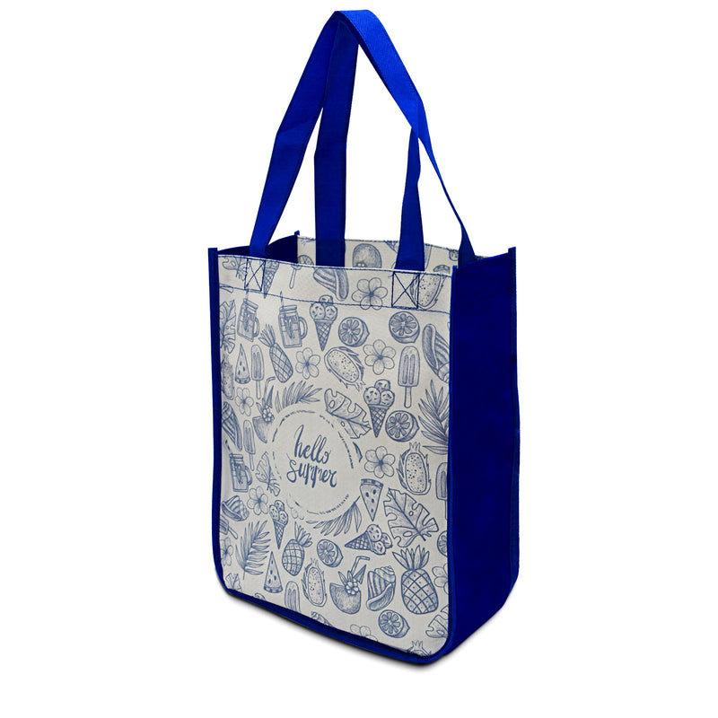 "Custom Laminated PP Non-Woven Shopping Bag 9""W x 11.5""H x 4""G"