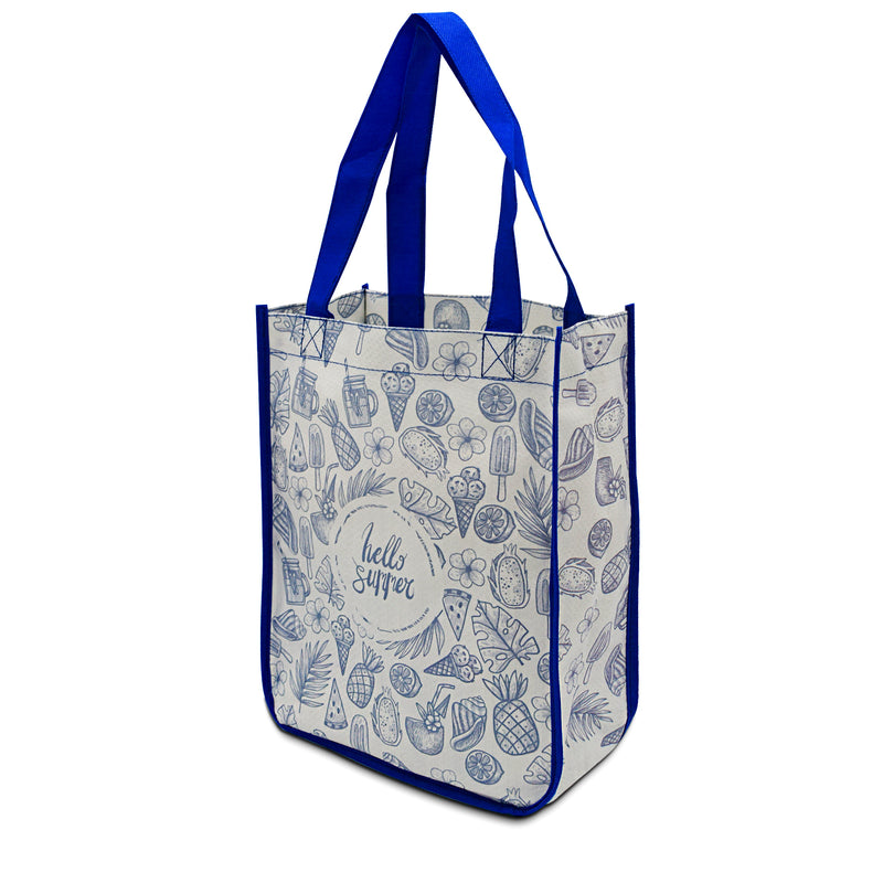 "Custom Laminated PP Non-Woven Shopping Bag 9""W x 11.5""H x 4""G (All Side Printing)_"