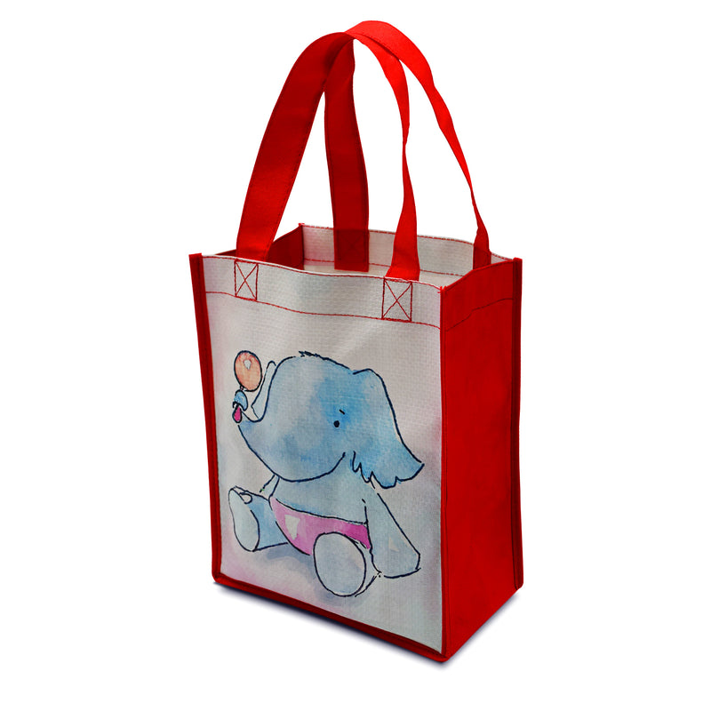 "Custom Printed Laminated PP Non-Woven Shopping Bag 8""W x 10""H x 4""G"