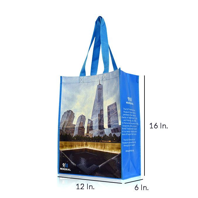 "Reusable Fabric Shopping Bags With Handles Custom Printing 80GSM PPNW - 12""W X 16""H X 6""D"
