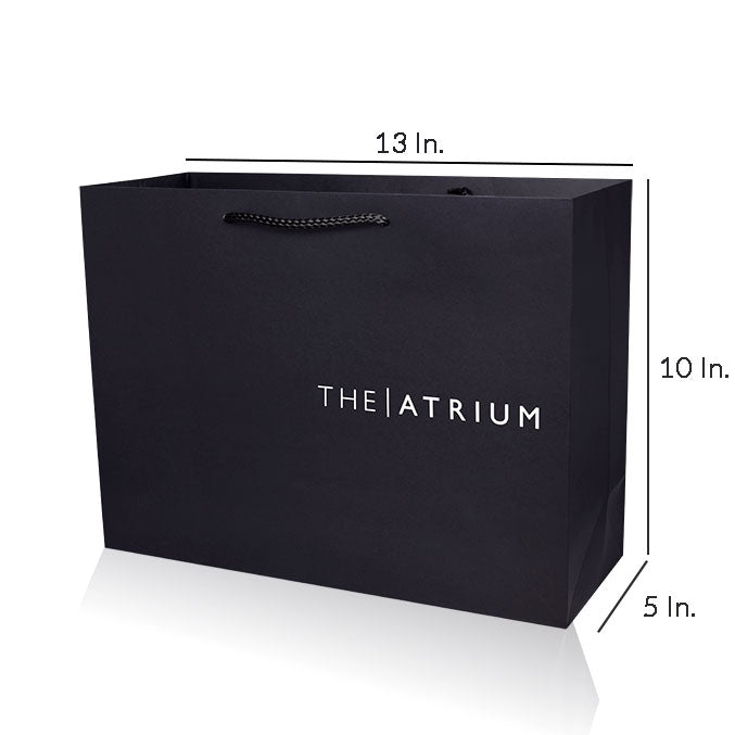 "Custom Paper Bags With Handles 157GSM Paper - 13""W X 10""H X 5""D"