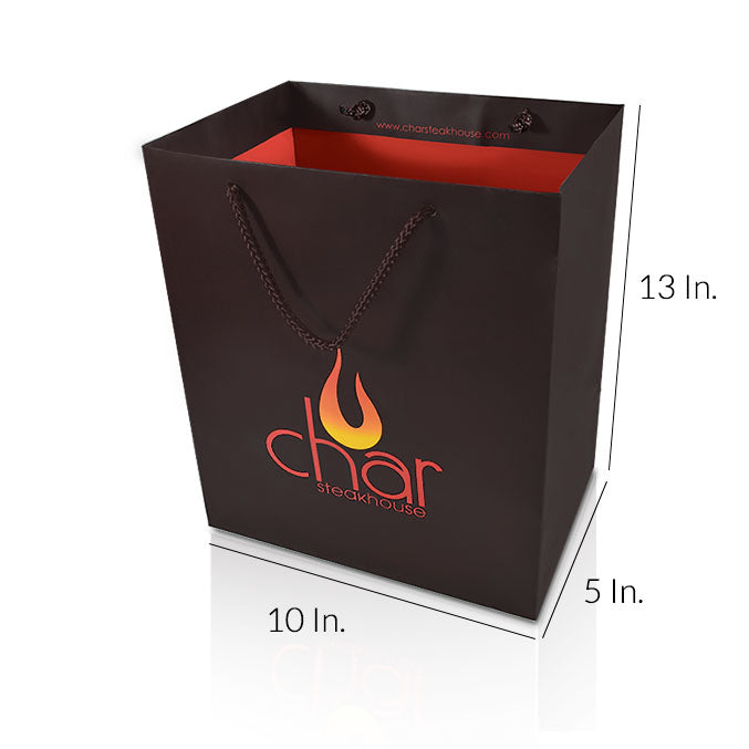 "Custom Paper Shopping Bags With Handles 157GSM Paper - 10""W X 13""H X 5""D"