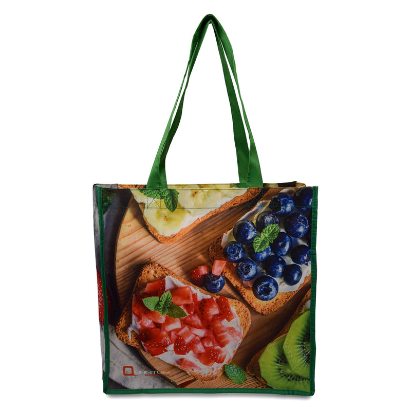 "Custom Printed 5 Oz Poly Cotton Shopping Bag 13""W x 13""H x 5""G"