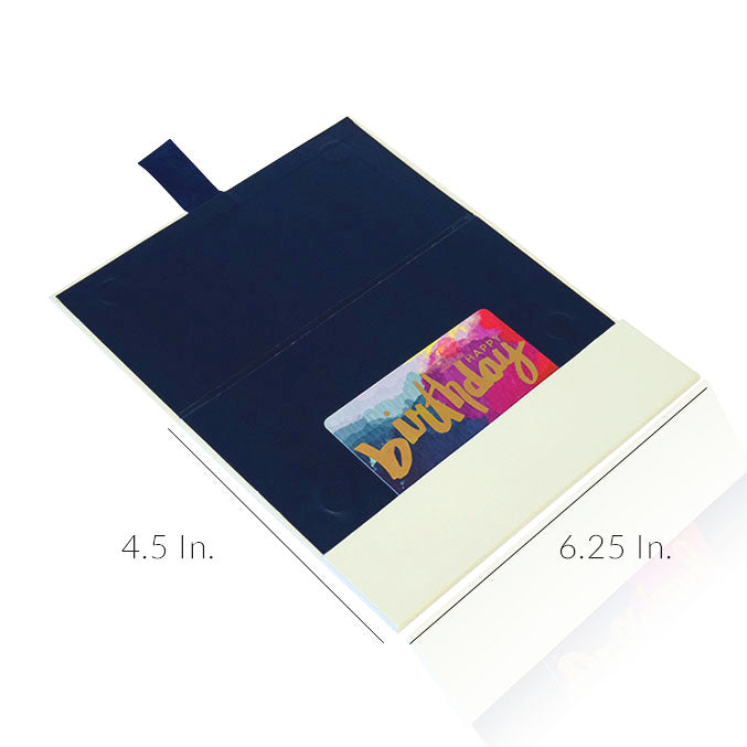 "Gift Card Holder 3 Panel Rigid Paper Board With Ribbon Tab - 6.25""W X 4.5""H"