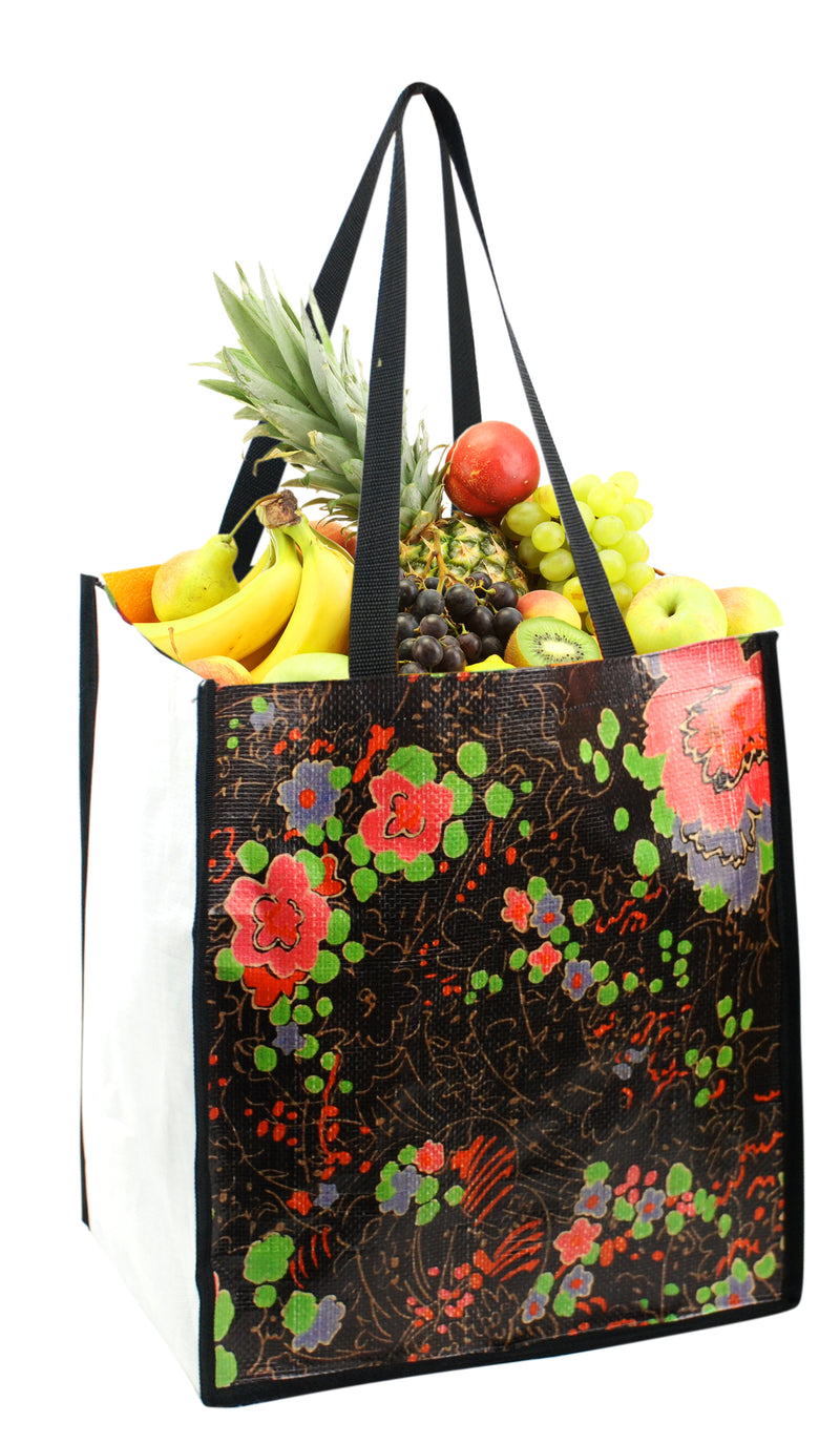 "PP Woven Laminated Shopping Bag 13""W X 15""H X 10""D"