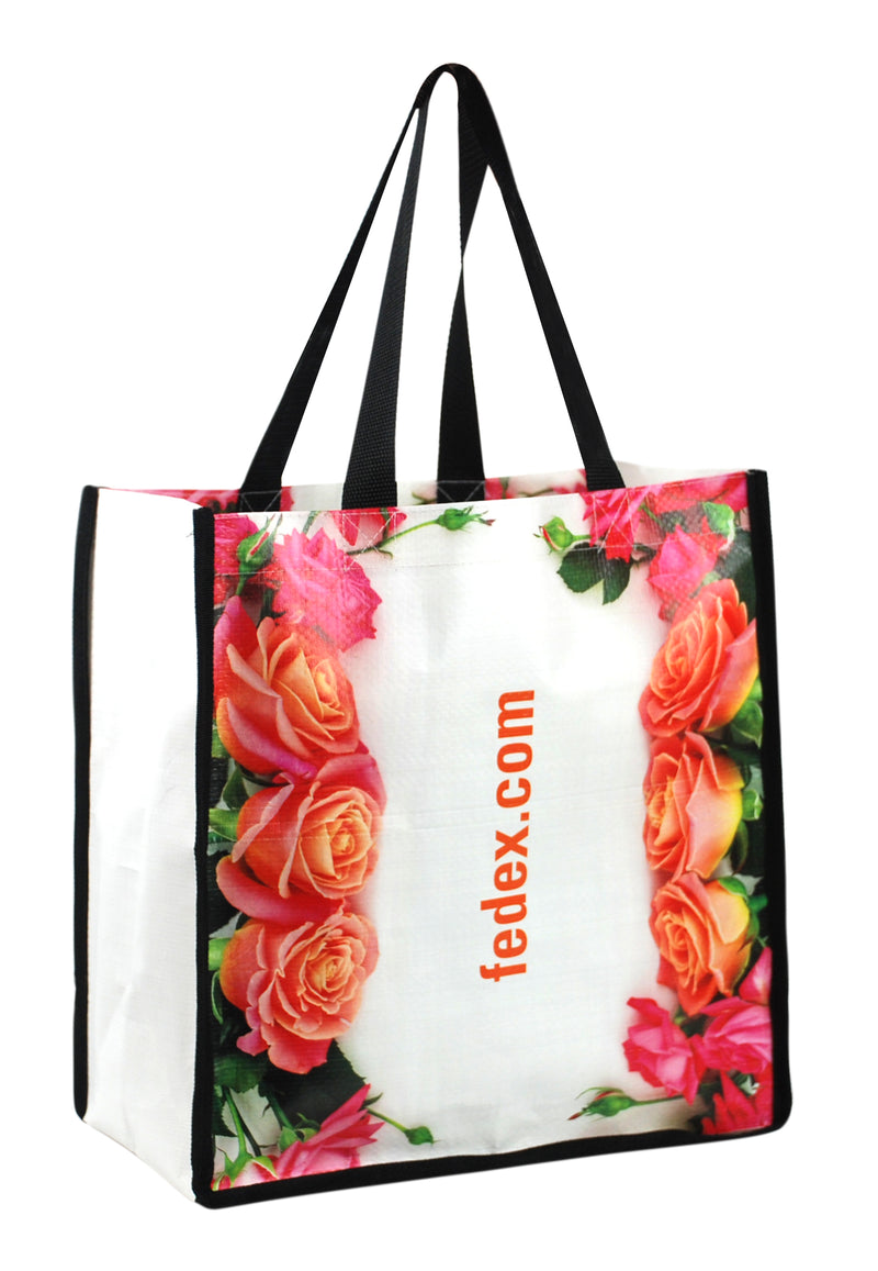 "PP Woven Laminated Shopping Bag 12""W X 13""H X 8""D"
