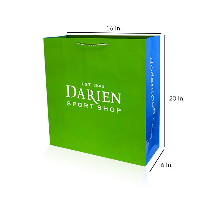 "Paper Shopping Bags With Handles Custom Printing 200GSM Paper - 16""W X 20""H X 6""D"